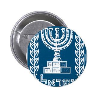Israel National Emblem Pinback Buttons
