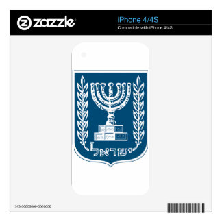 Israel National Emblem Decal For The iPhone 4