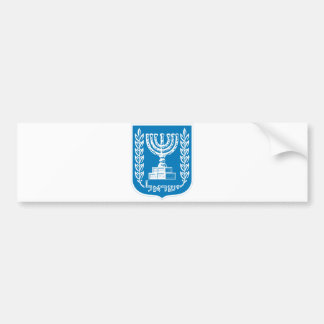 Israel Official Coat Of Arms Heraldry Symbol Bumper Sticker