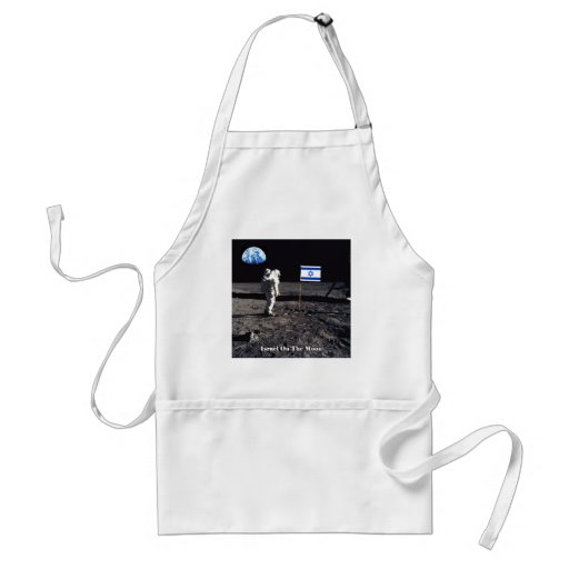 Israel On The Moon Aprons