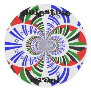 Israel & Palestine Classic Round Sticker