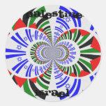 Israel & Palestine Round Stickers