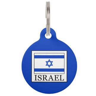 Israel Pet Name Tag