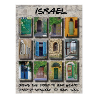 Israel - puertas y ventanas póster