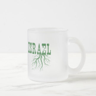 Israel Roots Frosted Glass Coffee Mug