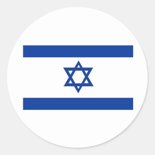 Israel Round Stickers