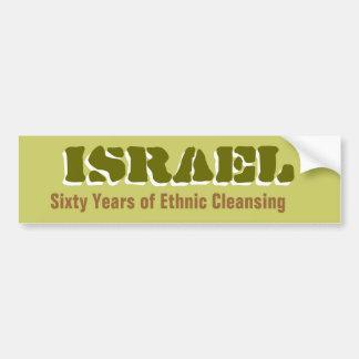ISRAEL sesenta años de limpieza étnica Bumperstick Pegatina Para Auto