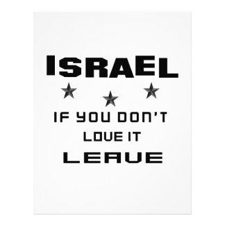 Israel si usted no lo ama, se va membrete
