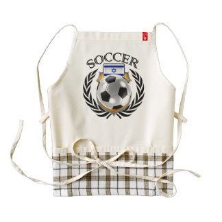 Israel Soccer 2016 Fan Gear Zazzle HEART Apron