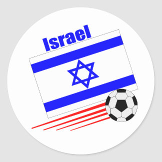Israel Soccer Team Classic Round Sticker