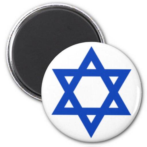 Israel - Star of David 2 Inch Round Magnet