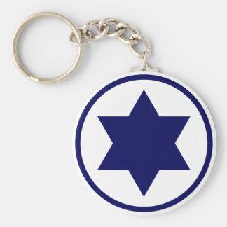 Israel Star of David Keychain