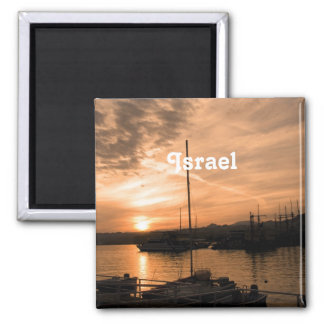 Israel Sunset 2 Inch Square Magnet