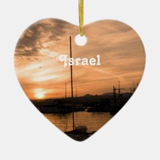 Israel Sunset Christmas Ornaments
