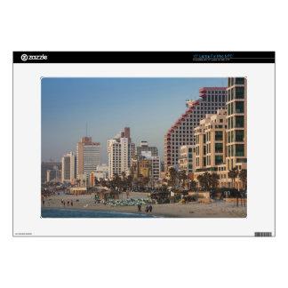 """Israel, Tel Aviv, beachfront, hotels, dusk Decal For 15"""" Laptop"""