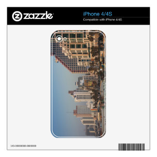 Israel, Tel Aviv, beachfront, hotels, dusk Decals For The iPhone 4