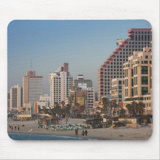Israel, Tel Aviv, beachfront, hotels, dusk Mouse Pad