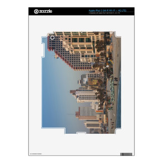 Israel, Tel Aviv, beachfront, hotels, dusk iPad 3 Decals
