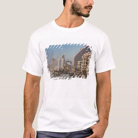 Israel, Tel Aviv, beachfront, hotels, dusk T-Shirt