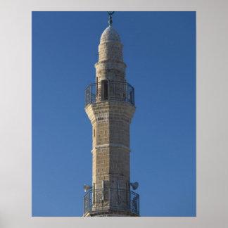 Israel, Tel Aviv, Jaffa, alminar de la mezquita Póster