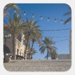 Israel, Tel Aviv, Jaffa, escaleras, Jaffa viejo Colcomanias Cuadradas