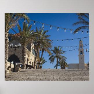 Israel, Tel Aviv, Jaffa, escaleras, Jaffa viejo Póster