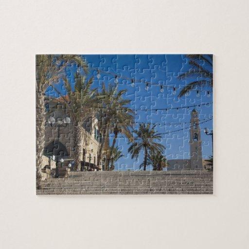 Israel, Tel Aviv, Jaffa, escaleras, Jaffa viejo Puzzles Con Fotos