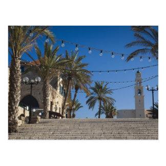 Israel Tel Aviv Jaffa escaleras Jaffa viejo Tarjeta Postal