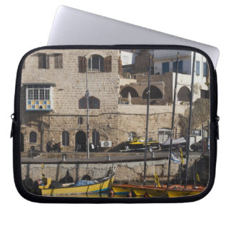 Israel, Tel Aviv, Jaffa, Jaffa Old Port Laptop Sleeve