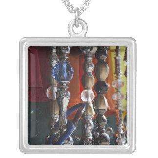 Israel, Tel Aviv, Jaffa, sheesha water pipes Silver Plated Necklace