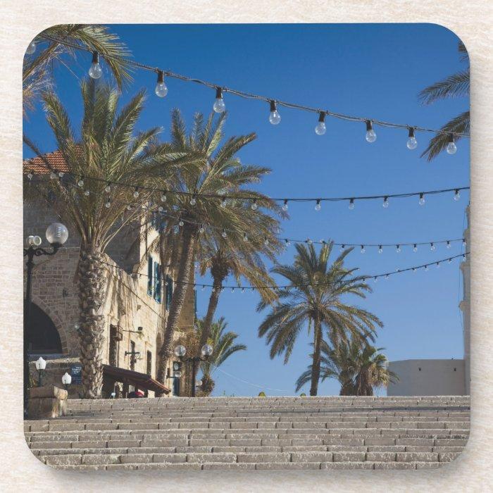 Israel, Tel Aviv, Jaffa, stairs, Old Jaffa Beverage Coaster
