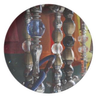 Israel, Tel Aviv, Jaffa, tubos de agua del sheesha Plato Para Fiesta