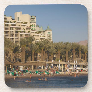 Israel, The Negev, Eilat, Red Sea beachfront 2 Beverage Coaster
