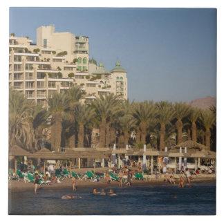 Israel, The Negev, Eilat, Red Sea beachfront 2 Ceramic Tile