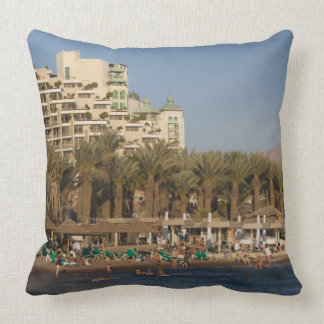 Israel, The Negev, Eilat, Red Sea beachfront 2 Pillow