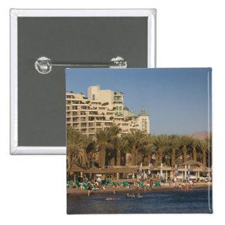 Israel, The Negev, Eilat, Red Sea beachfront 2 Pinback Button