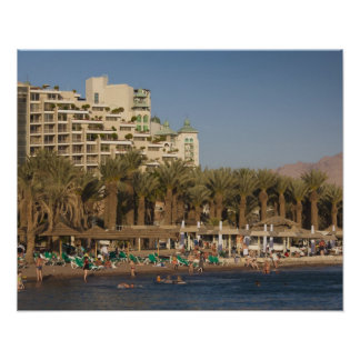 Israel, The Negev, Eilat, Red Sea beachfront 2 Print