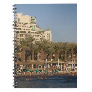 Israel, The Negev, Eilat, Red Sea beachfront 2 Spiral Notebook