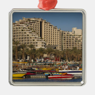 Israel, The Negev, Eilat, Red Sea beachfront 3 Metal Ornament