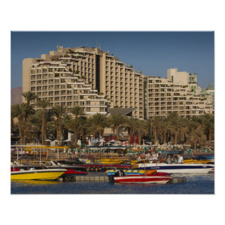 Israel, The Negev, Eilat, Red Sea beachfront 3 Poster