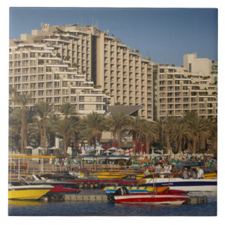 Israel, The Negev, Eilat, Red Sea beachfront 3 Ceramic Tiles