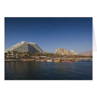 Israel, The Negev, Eilat, Red Sea beachfront Greeting Card