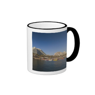 Israel, The Negev, Eilat, Red Sea beachfront Ringer Coffee Mug