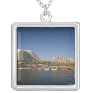 Israel, The Negev, Eilat, Red Sea beachfront Silver Plated Necklace
