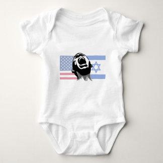 Israel-USA scream Baby Bodysuit