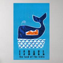 Israel Vintage Travel Poster Restored