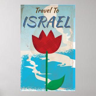 Israel Vintage vacation Poster