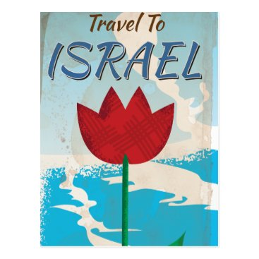 bartonleclaydesign Israel Vintage vacation Poster Postcard