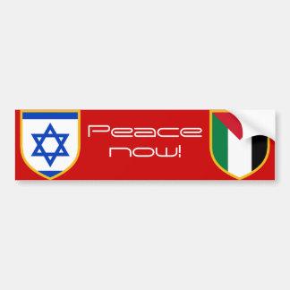 Israel vs Palestine peace now Car Bumper Sticker