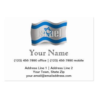 Israel Waving Flag Large Business Card